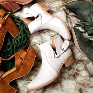 Shoes - 📣LAST PAIR//The Cassie// Stone Buckled Bootie